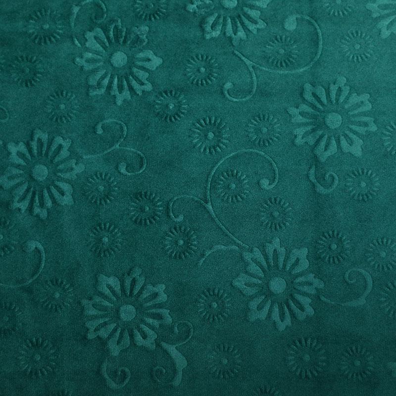 时尚涤纶家居装饰3D压花荷兰绒坐垫面料