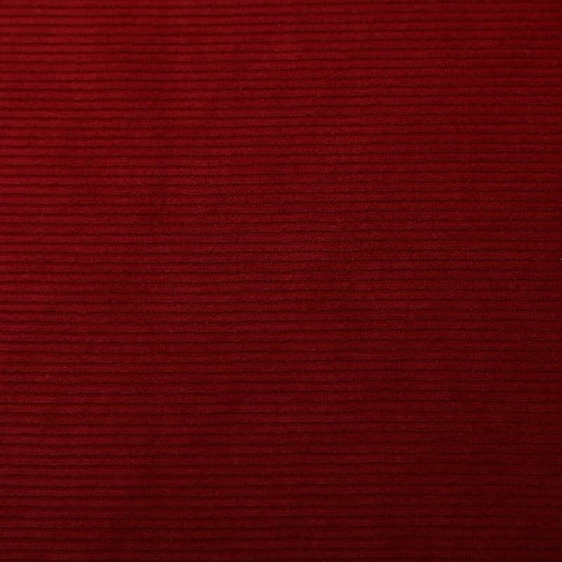 价格实惠涤纶针织家纺红色荷兰条绒提花织物