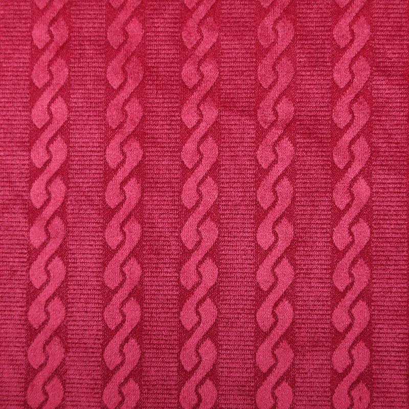 价格低廉室内装修涤纶豪华家纺红色沙发套面料