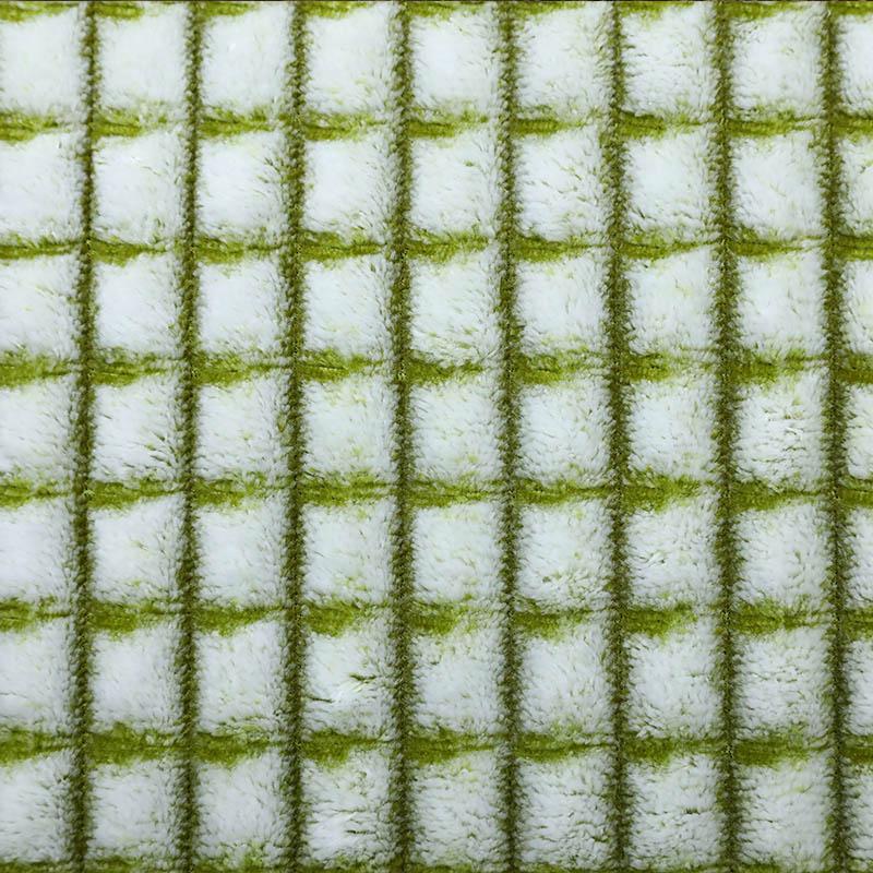 100%涤纶优惠批发针织双色婴儿毯促销面料